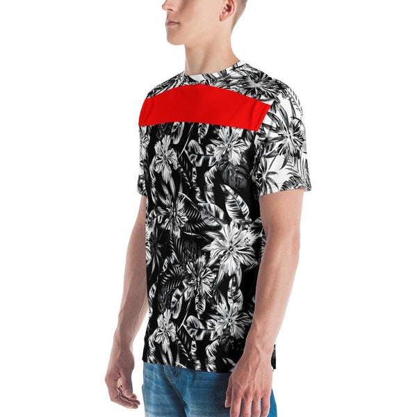 65 MCMLXV Men's Positive/Negative Tropical Floral Print T-Shirt-Tee Shirt-65mcmlxv
