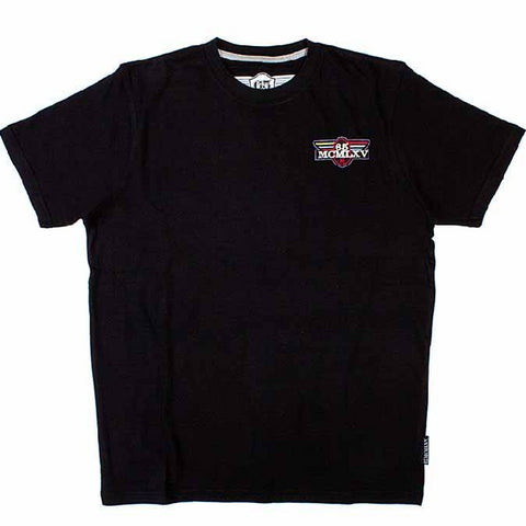 65 MCMLXV Men's Vintage Logo Graphic T-Shirt In Black-Tee Shirt-65mcmlxv
