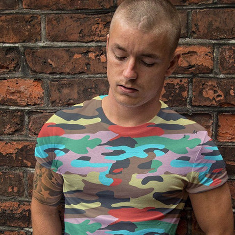 Tee Shirt - Unisex Bright Camo Printed T-Shirt