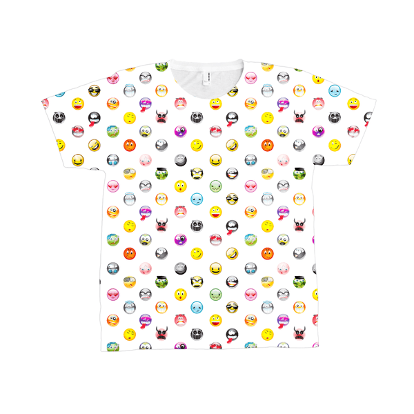 Tee Shirt - Unisex Emoji All-Over Print T-Shirt