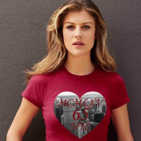 Tee Shirt - Women's NYC Heart Graphic T-Shirt
