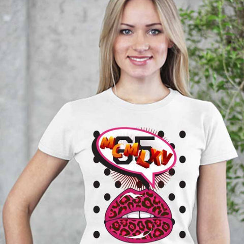 Tee Shirt - Women's Pop Art Lips Graphic T-Shirt