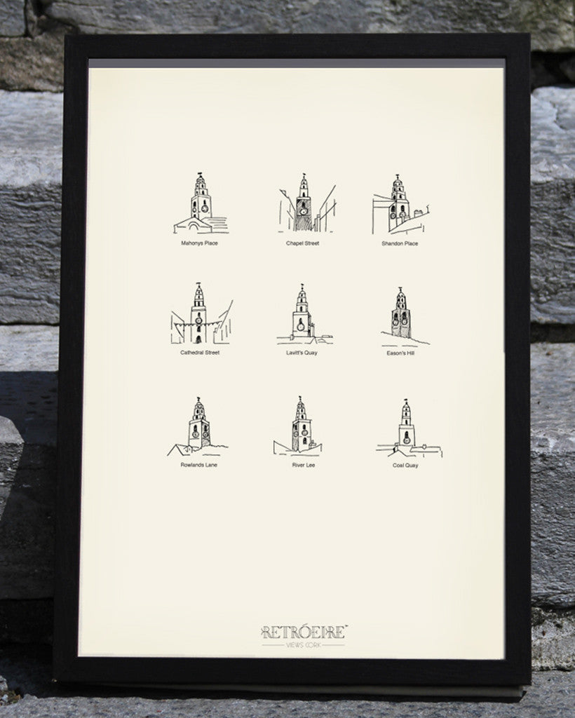 MUNSTER // Cork Views // Shandon Bells Screenprint