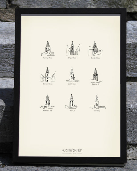 Iconic CORK VIEWS // The Shandon Bells Screenprint