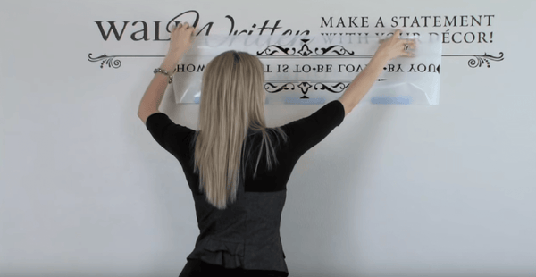 how to apply large wall stickers and decals