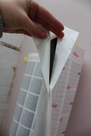 peel away the sticker backing paper
