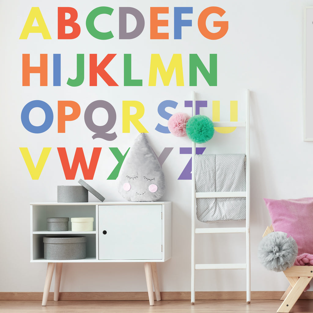 Charming Alphabet Wall Sticker Decals