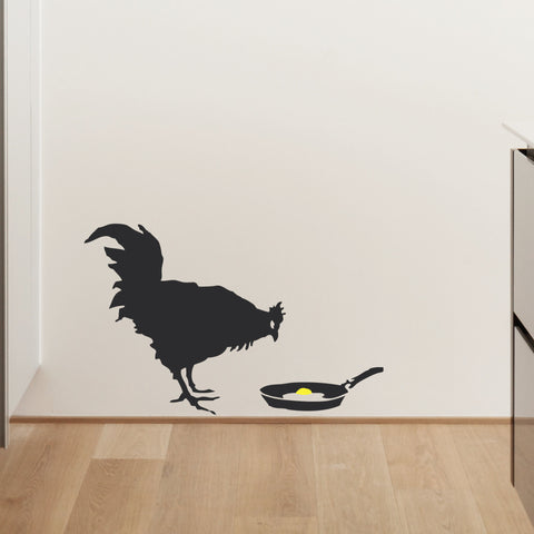 Banksy Chicken & Egg Wall Sticker