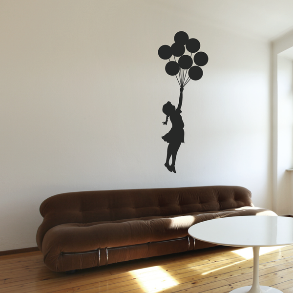 Banksy Floating Balloon Girl Wall Sticker
