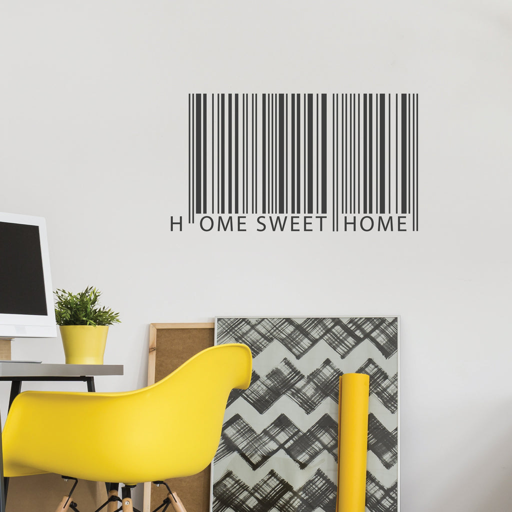 ... Sweet Home Barcode Wall Sticker. Barcode Wall Sticker