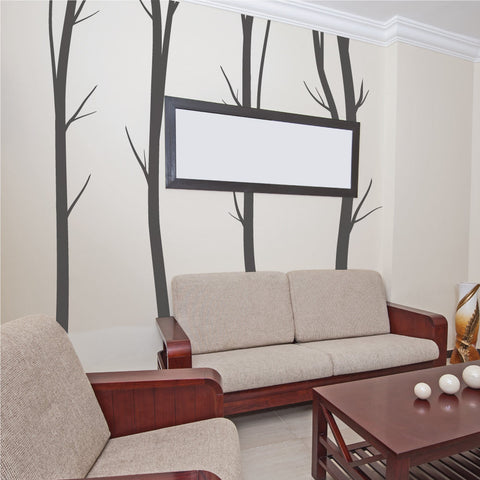 Winter Birch Trees Wall Stickers
