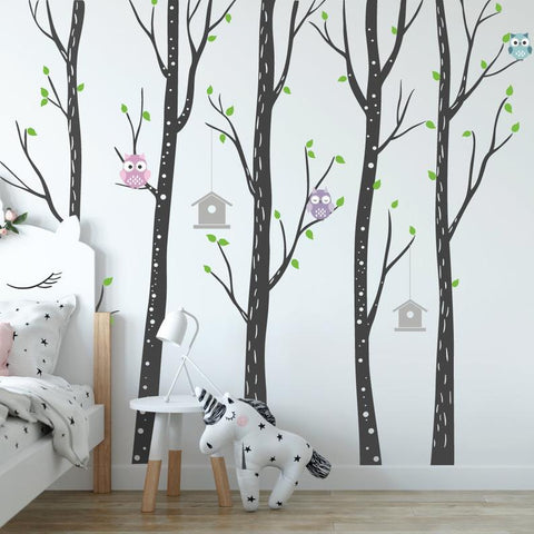 Owl And Tree Stickers For Wall