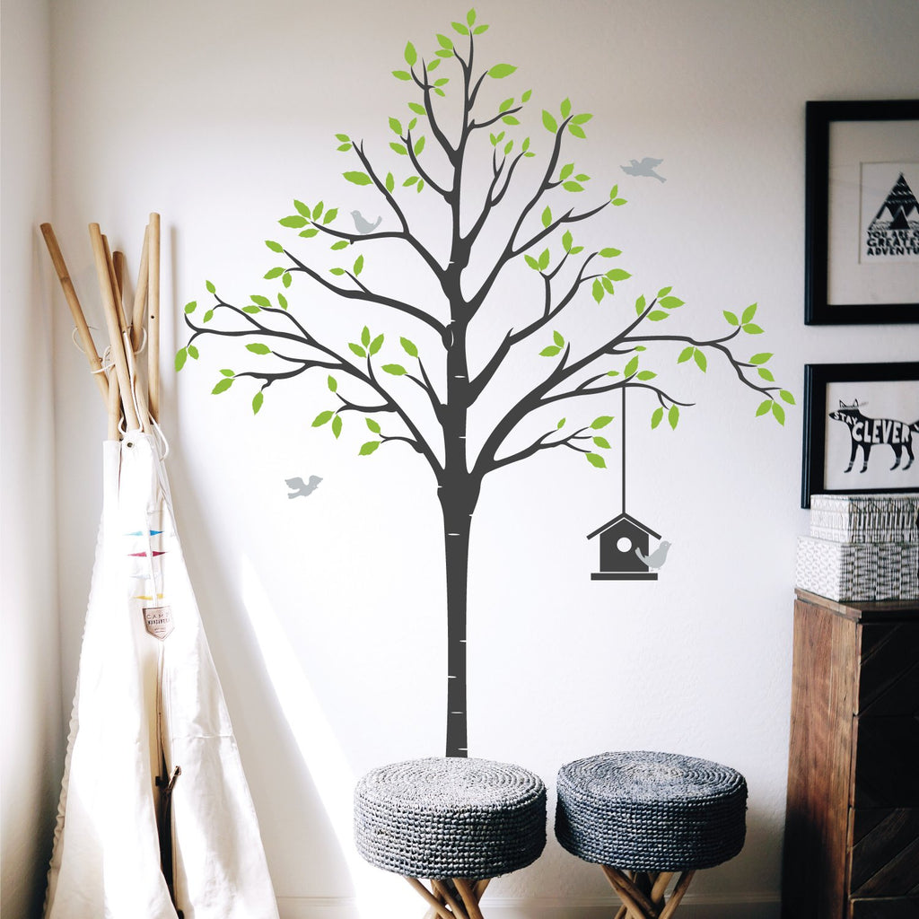 tree flower wall stickers and wall vinyls by wallboss wallboss contemporary tree wall sticker