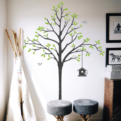 Bird House Tree Wall Sticker