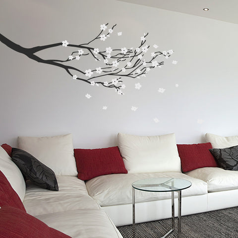 Blossom Branch Wall Vinyl By Wallboss