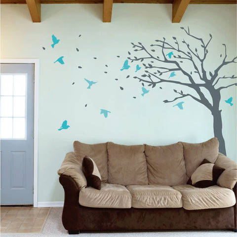 Blowing Tree With Birds
