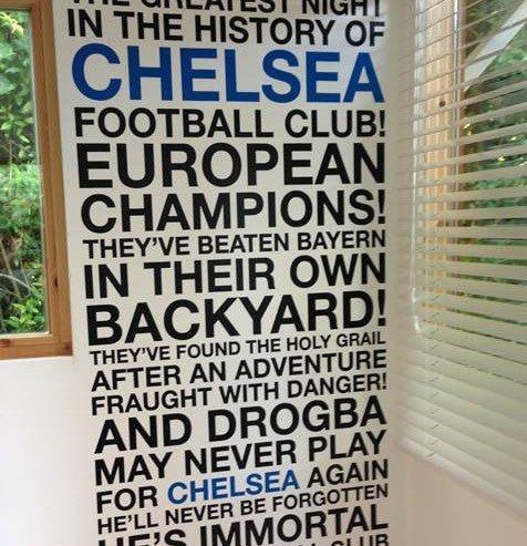 Chelsea Wall Decal Sticker