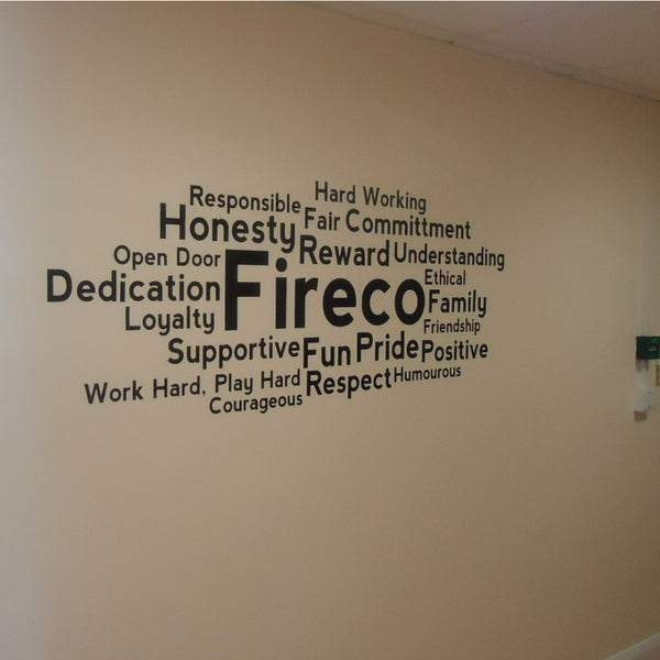 Keyword Cluster Office Wall Sticker