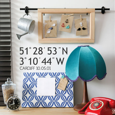 Personalised Coordinates Wall Sticker