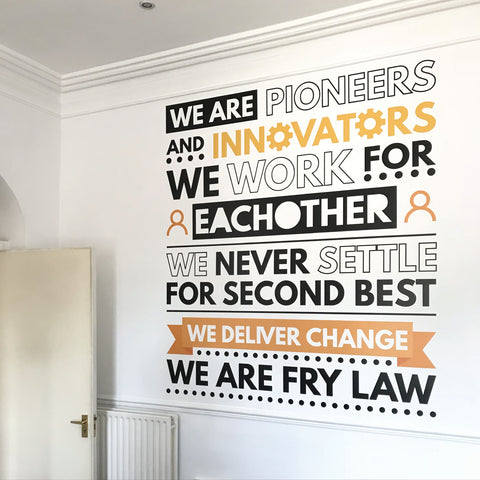 Company Core Values Wall Sticker