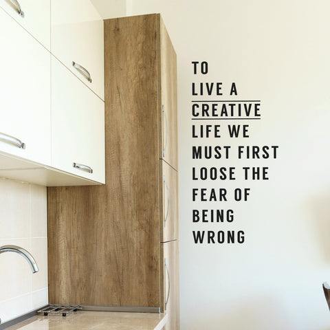 Creative Life Wall Decal Style 1