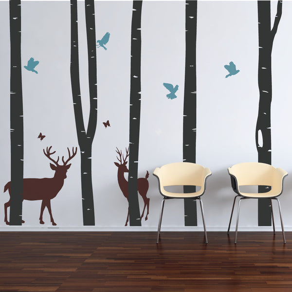 Birch Tree Forest Wall Decals By Wallboss