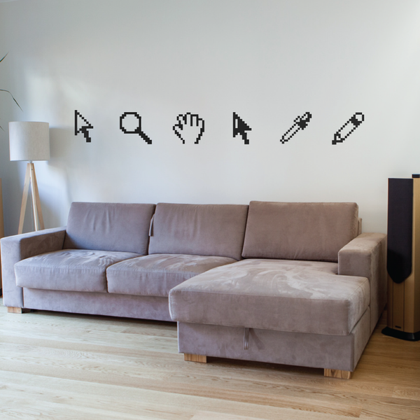 Pixelated Design Tools Wall Decals