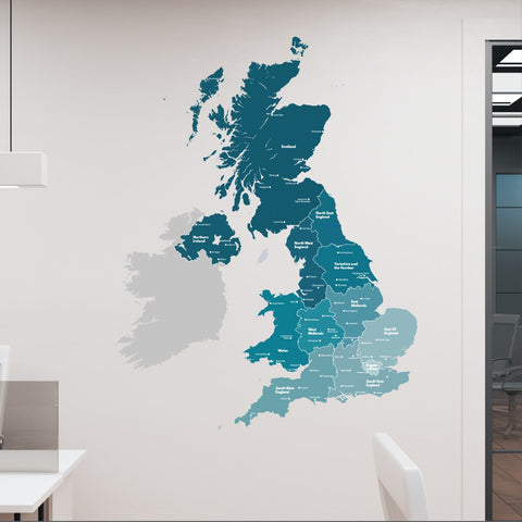Labelled Map Wall Sticker