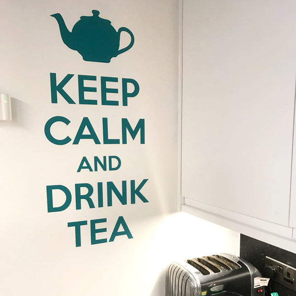 Keep Calm Drink Tea Kitchen Wall Sticker