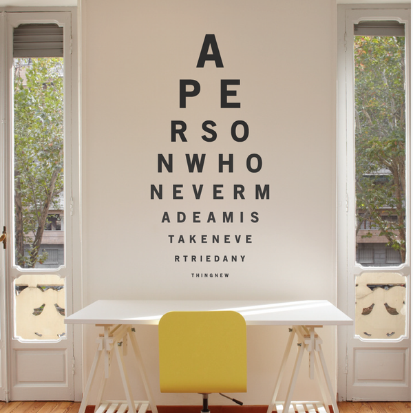 Eye Test Wall Sticker