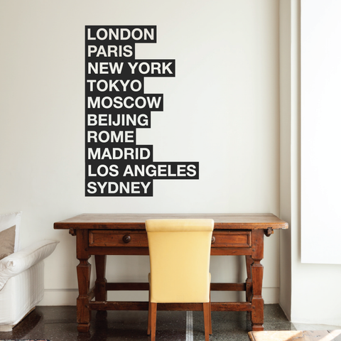 Famous Cities Wall Decal