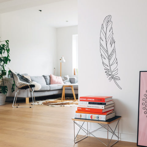 Feather Bird Wall Decal Sticker