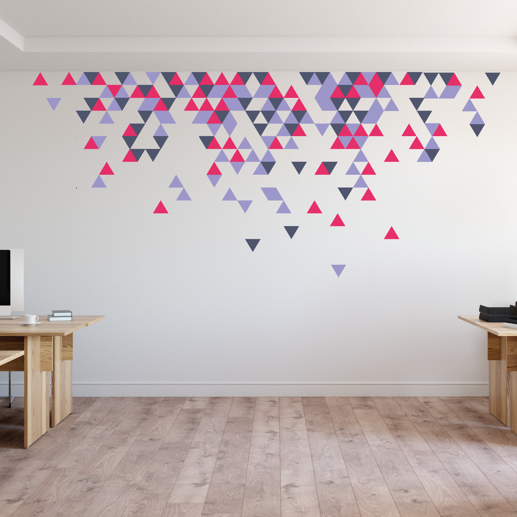 Geometric Abstract Triangle Wall Stickers Wallboss Wall Stickers Wall Art Stickers Uk Wall Stickers Bespoke Design