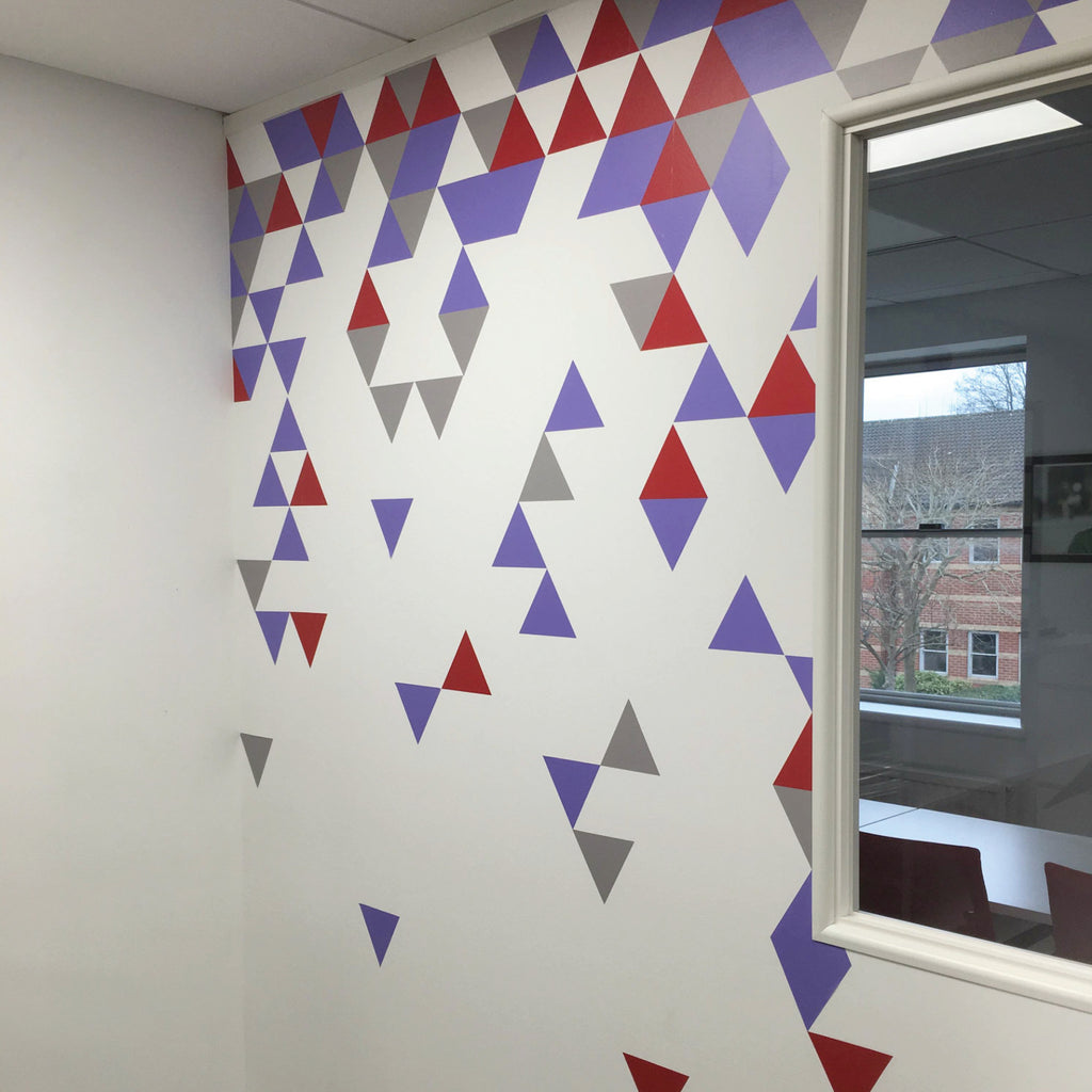 Geometric abstract triangle wall stickers wallboss wall stickers geometric abstract triangle wall stickers amipublicfo Gallery