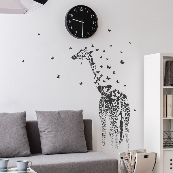 Giraffe Print Wall Decal Sticker