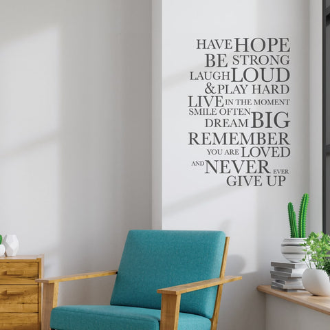 Home Quote Decal