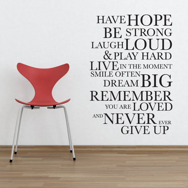 Have Hope Wall Sticker By Wallboss