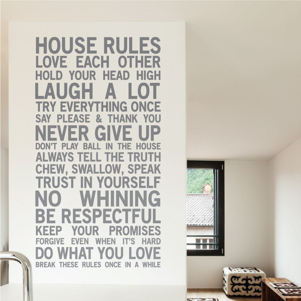 House Rules Wall Sticker Part 40