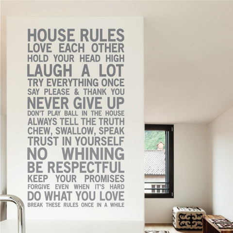 House Rules Wall Sticker