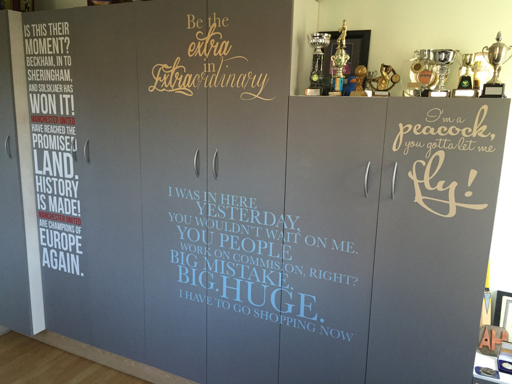 Design your own wall sticker quote