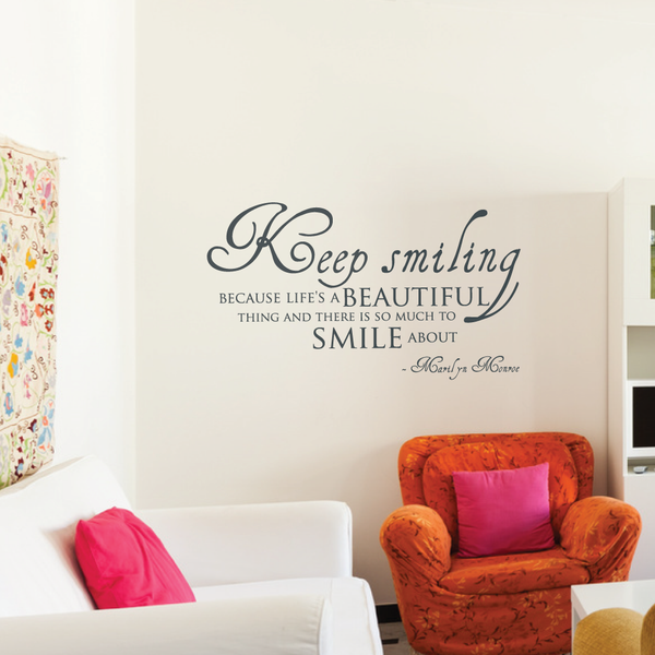 Marilyn Monroe Wall Quote Decal