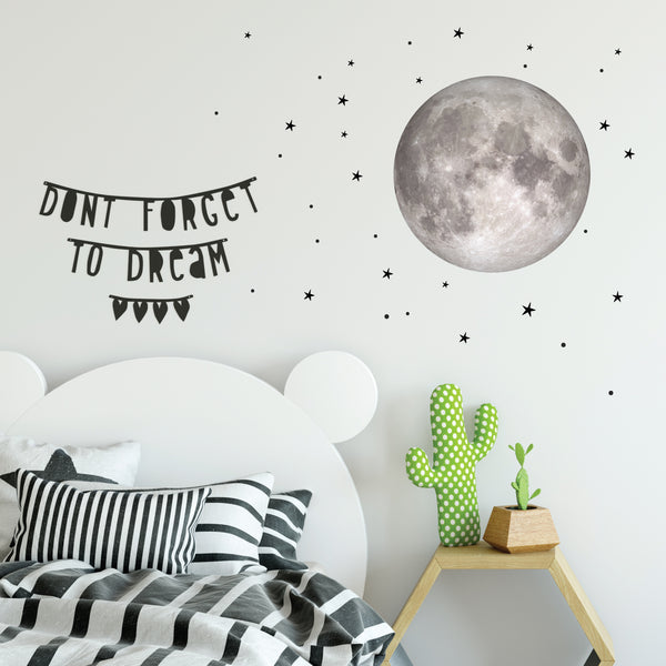 Moon and star wall sticker