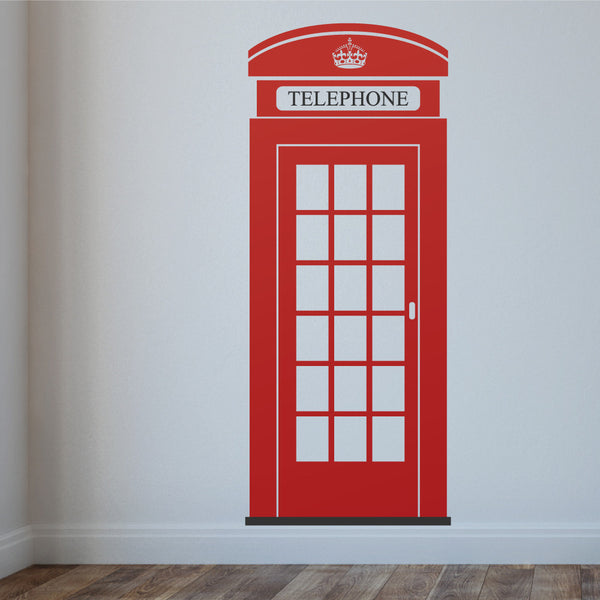 London Phone Box Wall Sticker