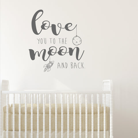 Love You to the Moon and Back Wall Sticker