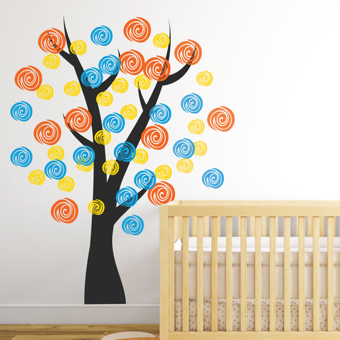 Multi Colour Nursery Room Tree Wall Sticker