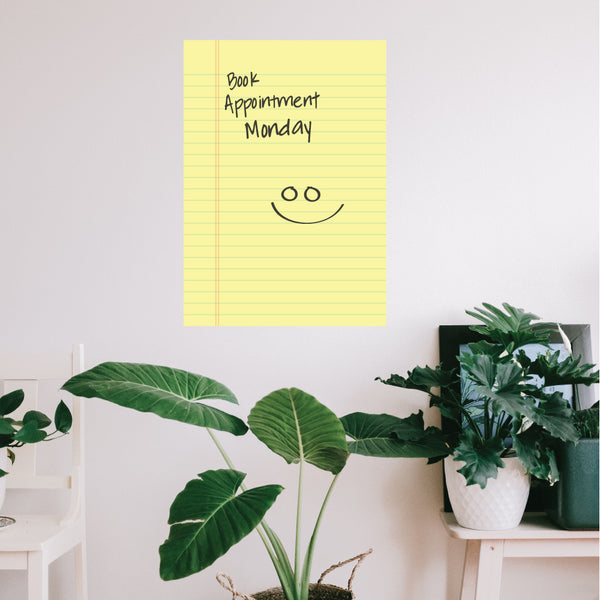Note Pad Dry Wipe Wall Sticker