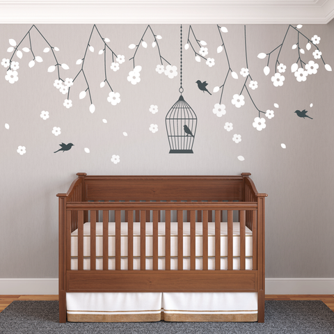 Merveilleux Nursery Blossom Branches Wall Sticker Vinyls