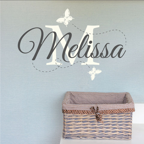 Personalised nursery name wall sticker wallboss wall stickers wall art stickers uk wall stickers bespoke design