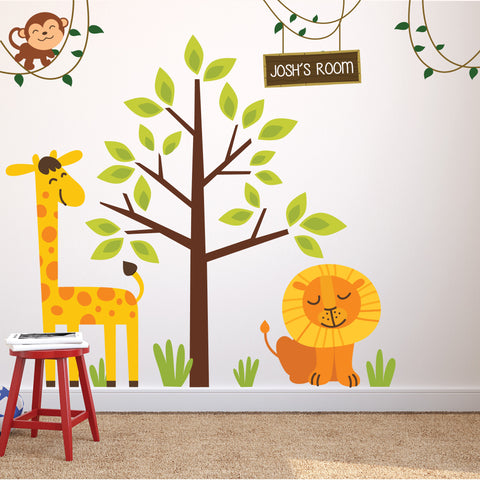 Nursery Safari Theme Wall Stickers