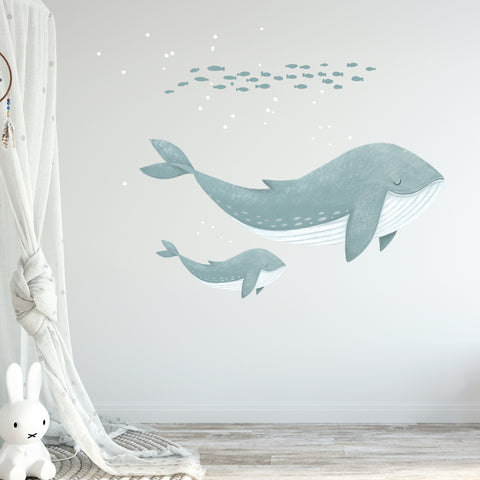 Whale Wall Stickers for Nursery